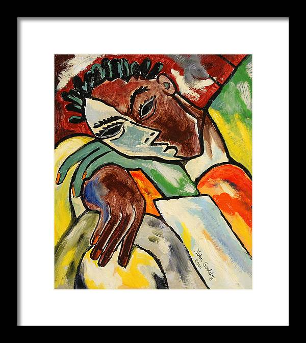 Framed Print featuring the painting Untitled by Johnny Goolsby