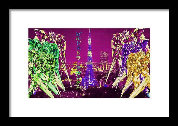 60240 Anime Vaporwave Vaporwave Anime Vaporwave Framed Print By Mery Moon