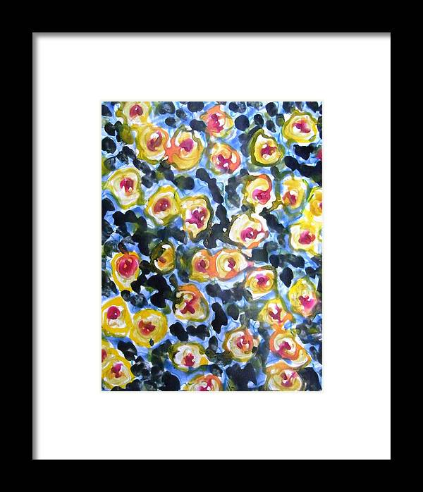 Flowers Framed Print featuring the painting Divine Flowers by Baljit Chadha
