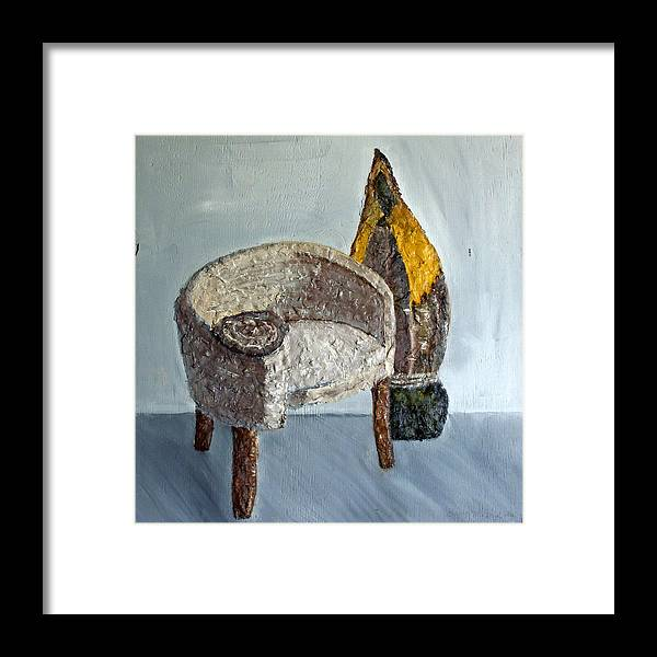 Still Life Paintings Framed Print featuring the painting 60's Style by Leslye Miller