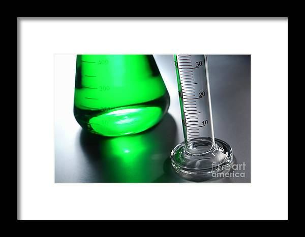 Chemical Framed Print featuring the photograph Laboratory Equipment In Science Research Lab by Olivier Le Queinec