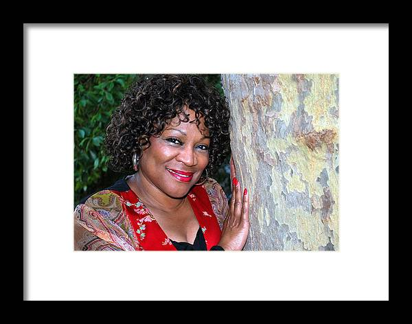 African American Framed Print featuring the photograph African American Female. by Oscar Williams