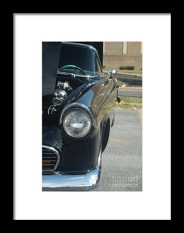 Black Framed Print featuring the photograph 55 Thunderbird Front And Side by Rob Luzier