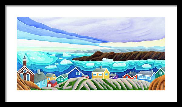 Arctic Landscape. Greenland Framed Print featuring the painting 69 Degrees 13 Minutes North by Lynn Soehner