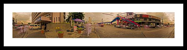 Philippines Framed Print featuring the photograph 6x1 Philippines Number 260 Hospital Panorama by Rolf Bertram