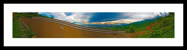 Tagaytay Framed Print featuring the photograph 6x1 Philippines Number 413 Panorama Tagaytay by Rolf Bertram