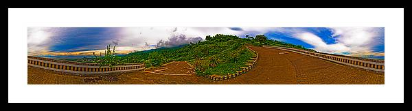 Tagaytay Framed Print featuring the photograph 6x1 Philippines Number 470 Panorama Tagaytay by Rolf Bertram