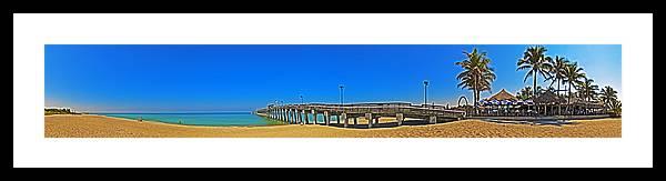 Venice Florida Framed Print featuring the photograph 6x1 Venice Florida Beach Pier by Rolf Bertram