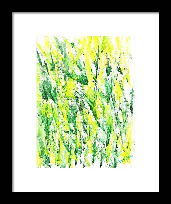 Abstract Painting Framed Print featuring the painting Abstract Flowers by Hema Rana