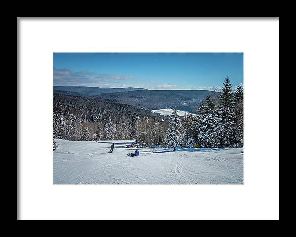 Cass Framed Print featuring the photograph Beautiful Nature And Scenery Around Snowshoe Ski Resort In Cass by Alex Grichenko