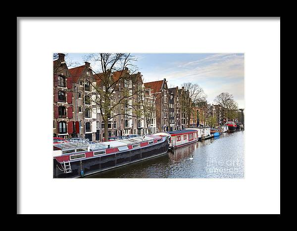 Age Framed Print featuring the photograph Channels Of Amsterdam by Andre Goncalves