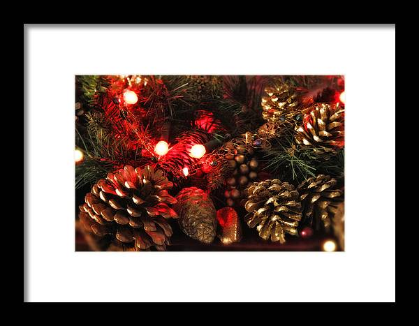 Christmas Framed Print featuring the photograph Christmas Tree Decorations by Mal Bray