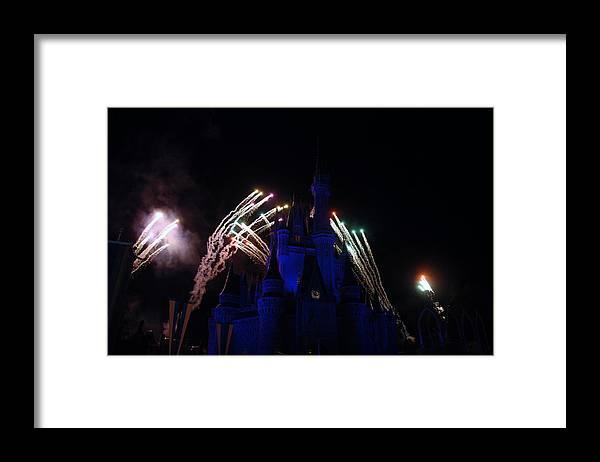 Walt Disney World Framed Print featuring the photograph Cinderella Castle by Rob Hans