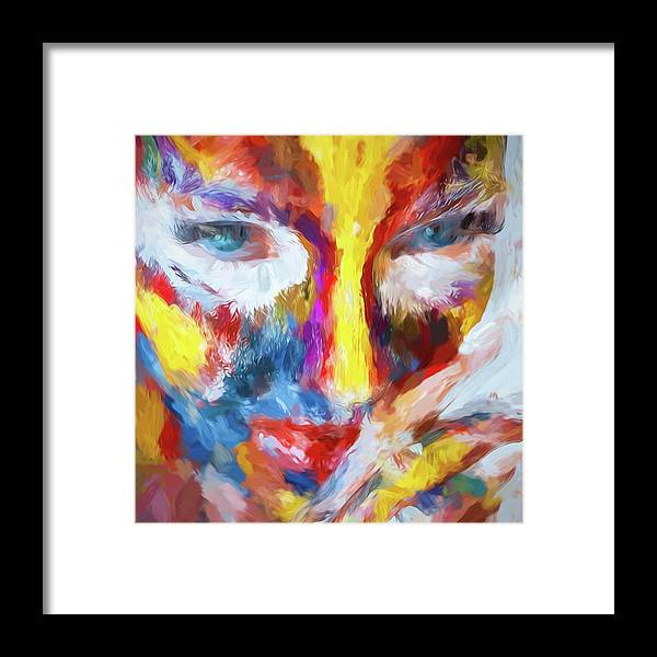Abstract Framed Print featuring the photograph Face Paint by Robert Kinser