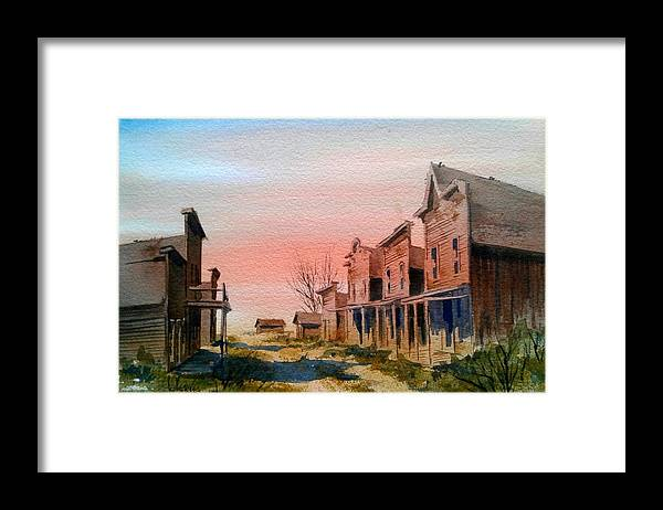 Llandscape Framed Print featuring the painting Ghost Town by Kevin Heaney