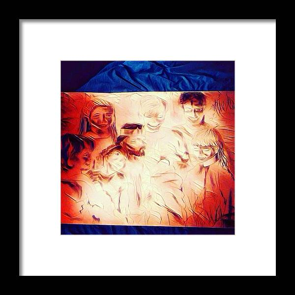 Jesus Framed Print featuring the drawing In Heaven With Jesus by Love Art Wonders By God