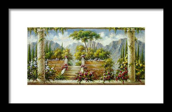 Italy Framed Print featuring the painting Italian Historical Villas by Lucio Campana