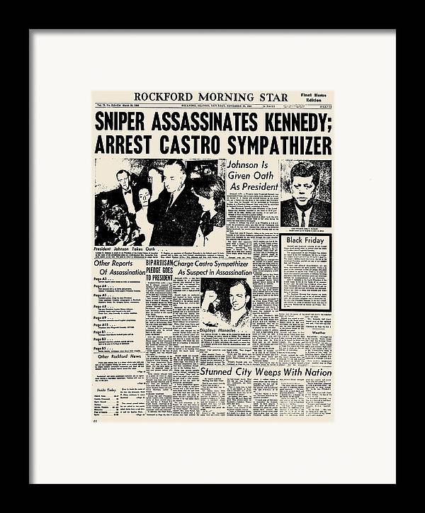 1963 Framed Print featuring the photograph John F. Kennedy (1917-1963) by Granger