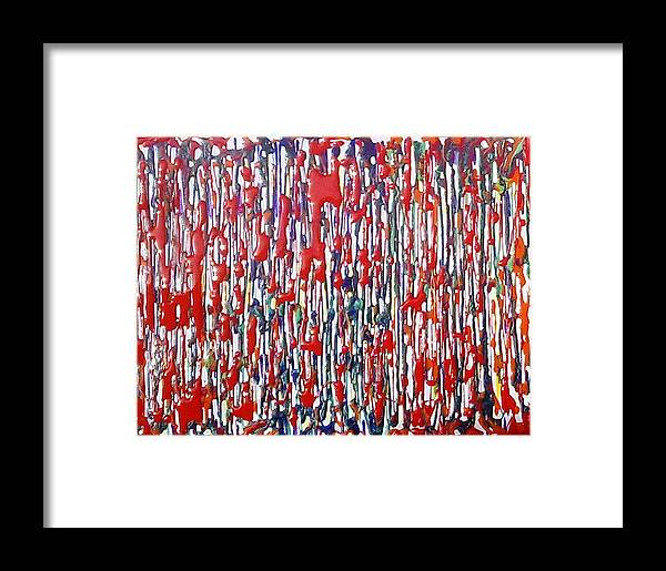 Abstract Framed Print featuring the painting Jugglery Of Colors by Baljit Chadha
