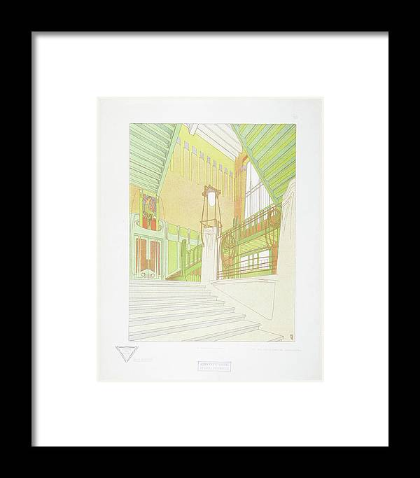 Max Joseph Gradl Framed Print featuring the painting Modern Design by MotionAge Designs
