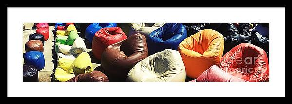 Bean Bags Framed Print featuring the photograph Msc by Caddelle Faulkner