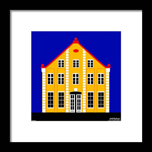 Architecture Framed Print featuring the digital art 7 North Street by Asbjorn Lonvig