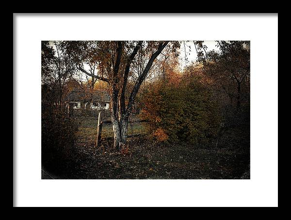 Nature. Landscape . View . Autumn . Village. Architecture. Ukrai Framed Print featuring the photograph Pirogovo by Oleg Karataev