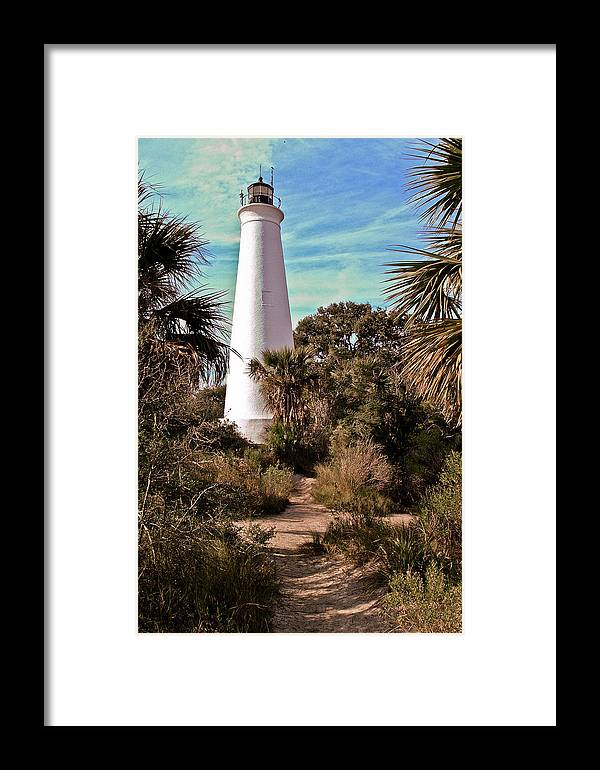 Color Photography Framed Print featuring the photograph St Marks Lighthouse by Wayne Denmark