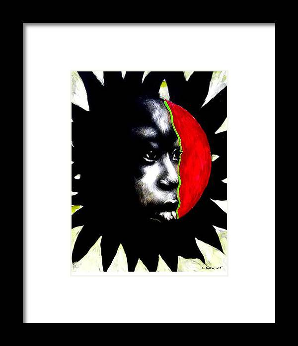 Framed Print featuring the mixed media 70 Sunshine by Chester Elmore