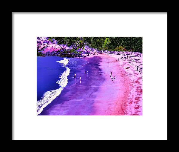 Seascape Framed Print featuring the photograph 74f Bright Beach by Ed Immar