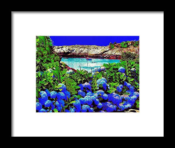 Landscape Framed Print featuring the photograph 75h Ocean Flowers by Ed Immar