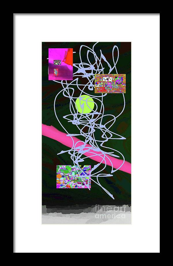 Walter Paul Bebirian Framed Print featuring the digital art 8-1-2015a by Walter Paul Bebirian