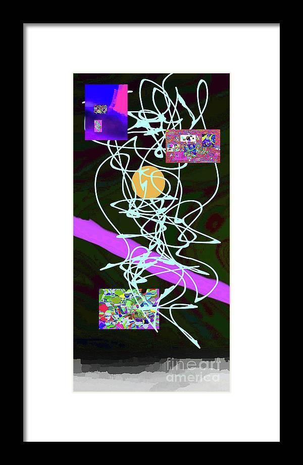 Walter Paul Bebirian Framed Print featuring the digital art 8-1-2015abcdefghi by Walter Paul Bebirian