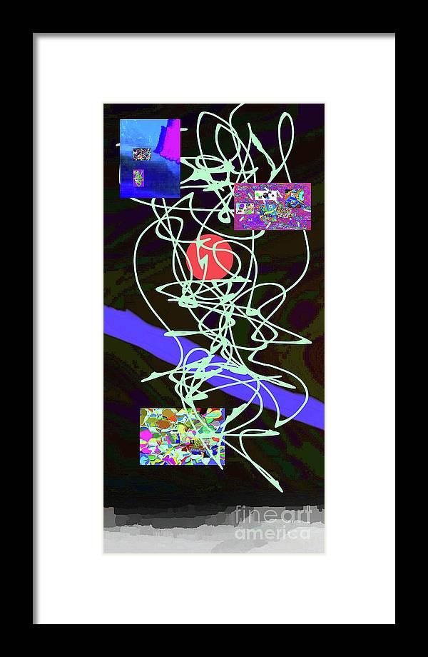Walter Paul Bebirian Framed Print featuring the digital art 8-1-2015abcdefghijklm by Walter Paul Bebirian