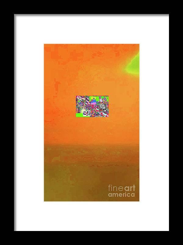 Walter Paul Bebirian Framed Print featuring the digital art 8-25-2015abcdefghijklmnopqrtuvwxyzabcdefghij by Walter Paul Bebirian