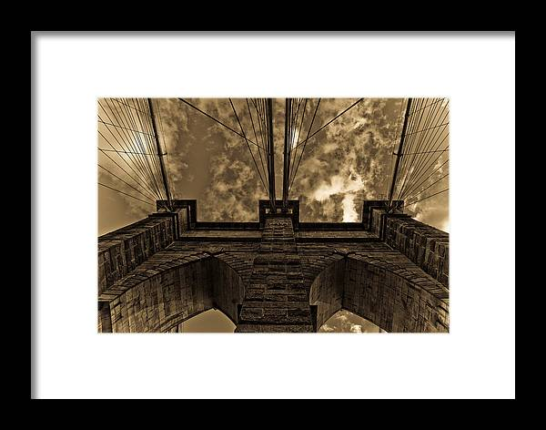 Bridge Framed Print featuring the photograph Brooklyn Bridge by Patrick Flynn