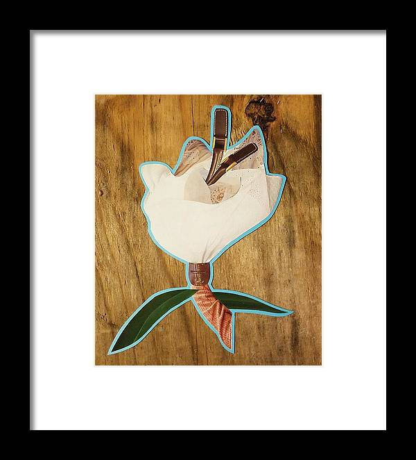Collage Framed Print featuring the mixed media Fashion Fleurward by Micheal Ashford