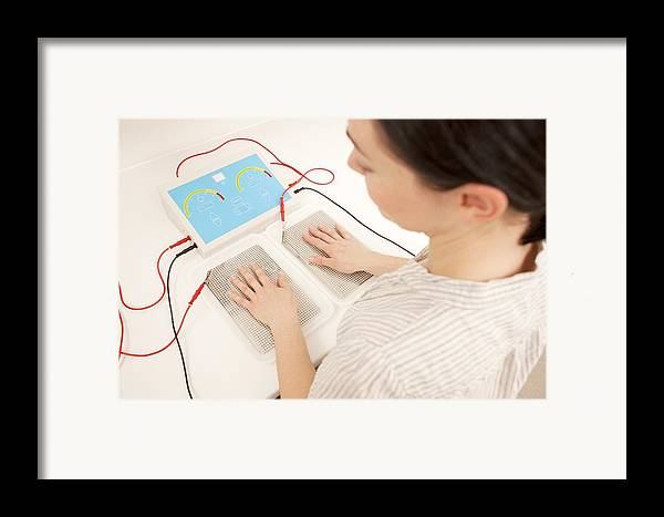 Indoors Framed Print featuring the photograph Iontophoresis For Excess Sweating by