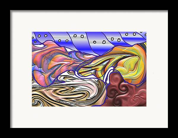 Abstsract Framed Print featuring the digital art 8-ish by James Eugene Albert