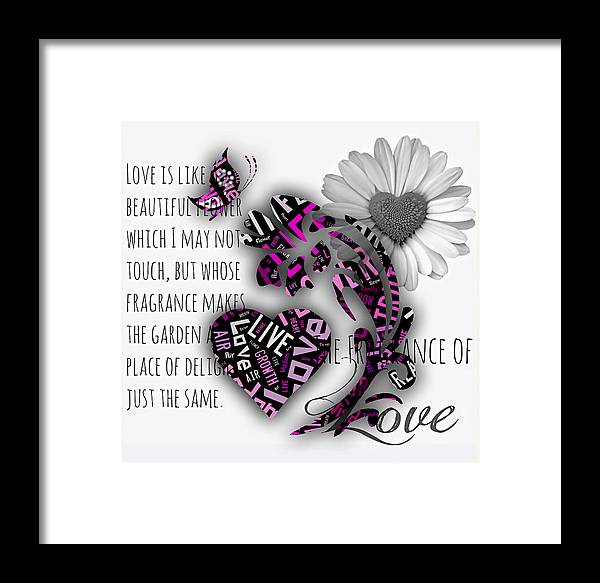 Rose Framed Print featuring the mixed media Love by Marvin Blaine