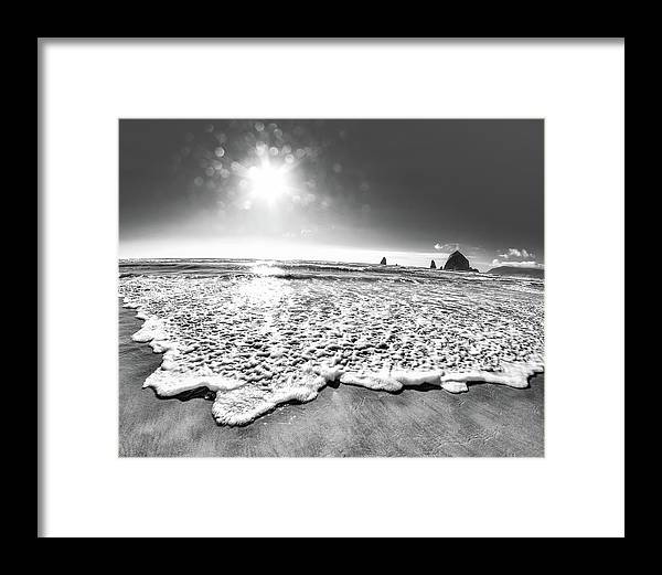 Beach Framed Print featuring the photograph 8-mm Magic by Sara Absher