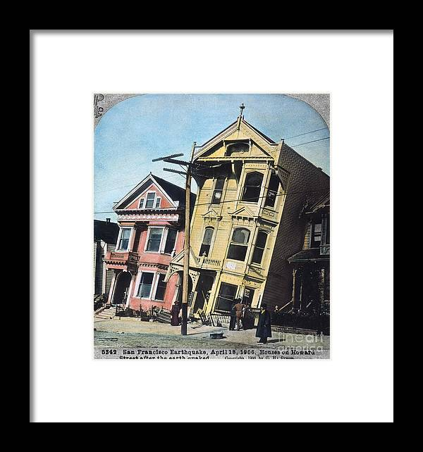 1906 Framed Print featuring the photograph San Francisco Earthquake by Granger