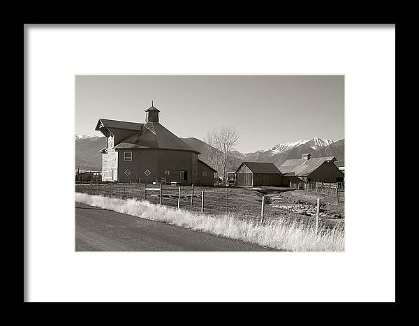 Framed Print featuring the photograph 8-sided Barn by Stephen Ingham