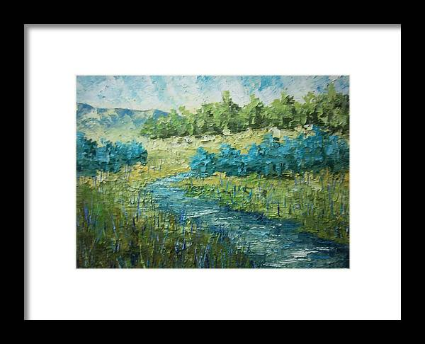 Boat Framed Print featuring the painting South Of France by Frederic Payet