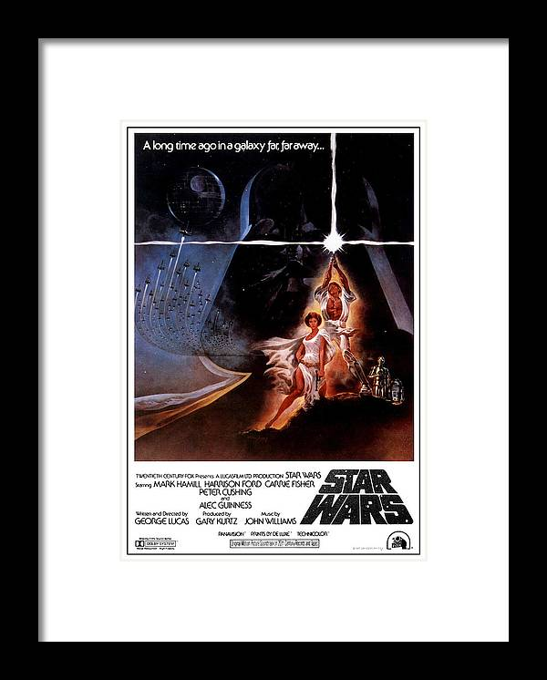 Star Wars Episode Iv A New Hope 1977 Framed Print By Geek N Rock