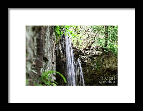 Waterfall Framed Print featuring the photograph Waterfall by Wesley Farnsworth