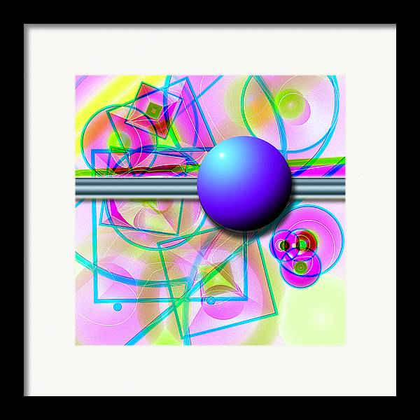 Abstract Framed Print featuring the digital art 80's Whatever by Carl Perry