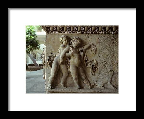 Bacchus Framed Print featuring the photograph Bacchus God Of Wine by Carl Purcell