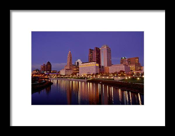 Columbus Framed Print featuring the photograph Columbus, Ohio by David Kelso