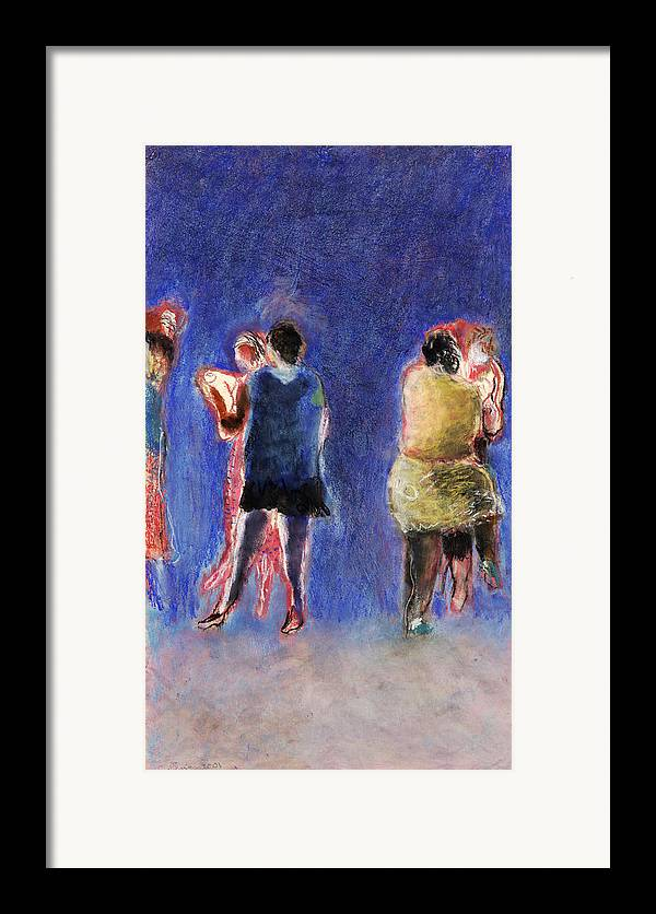 Dancer Framed Print featuring the painting Dancers by Bill Collins